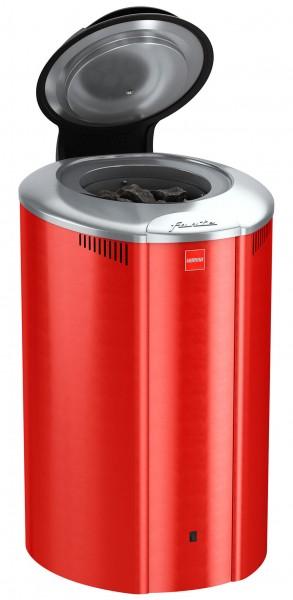 Harvia Forte Saunaofen mit seperatem Bedienfeld, 4 - 9 kW, rot