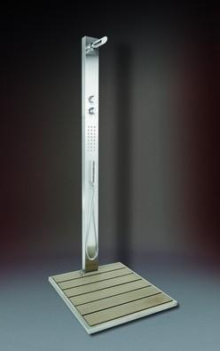 Ideal Kalt- & Warmwasserdusche - Malta WPC, inklusive Bodenplatte - Nr.: 70 65 03 D