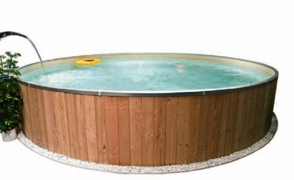 Future Pool Rundschwimmbecken Fun Wood - Innenhlle 0,80 mm, blau - 700 x 120 - Nr.: K 13345