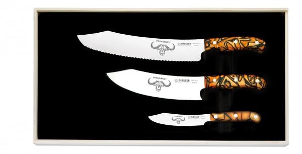Giesser PremiumCut Set Nr. 3, Spicy Orange, Messer-Set