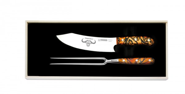 Giesser PremiumCut Tranchierset, Spicy Orange, Messer-Set