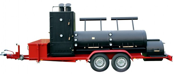 Joe's Barbeque Smoker | 30'' Extended Catering Smoker Trailer mit Doppelachse