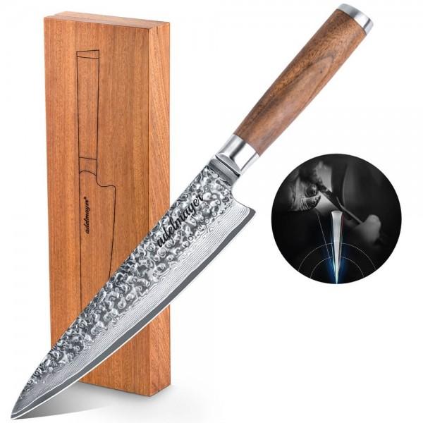 adelmayer Damastmesser Küchenmesser, handgeschliffen, 20 cm