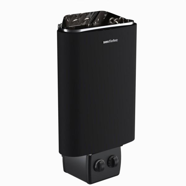 Sentiotec Saunaofen 100 mit integrierter Steuerung, schwarz, 3,6 kW
