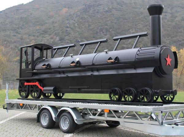 Joe's Barbeque Smoker | 24'' Triple Door Championship Train Trailer