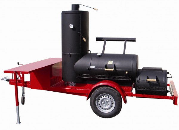 Joe's Barbeque Smoker | 24'' Chuckwagon Catering Smoking Trailer