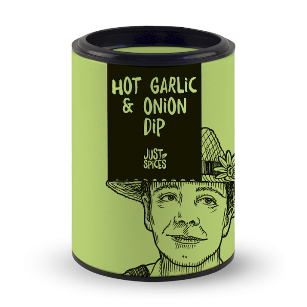Just Spices Hot Garlic & Onion Dip 36gr Dose