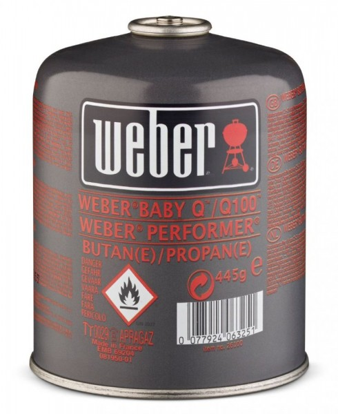 Weber Gaskartusche für 100-/1000-Serie, Performer Deluxe und Go-Anywhere Gas - N