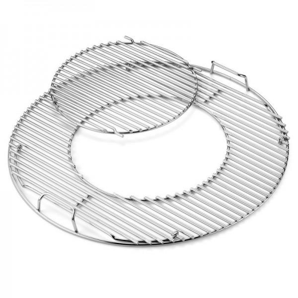 Weber Gourmet BBQ System - Grillrost mit Grillrosteinsatz aus Edelstahl Ø 57 cm